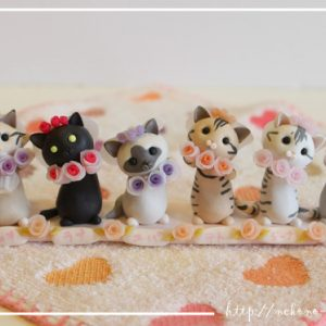 お祝いに贈りたい!クレイアートでつくる猫nekonoがとってもかわいい♪