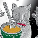 【猫の銀貨】おとぎ話をモチーフにした北欧のコインがきらめく♪