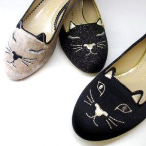 ネコモチーフが人気のロンドン発「シャーロット オリンピア」の猫シューズが欲しい♪