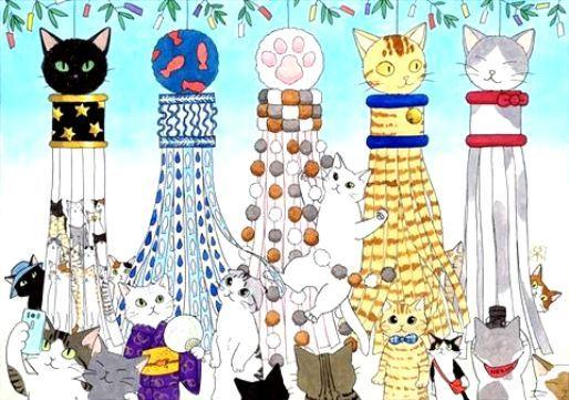 【ニャンともかわいい♪】ねこ型七夕飾りで、仙台七夕まつりをもっと盛り上げたい!!
