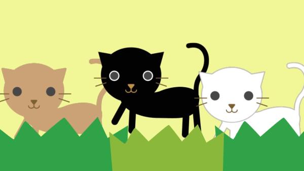 お母さん必見!赤ちゃんが泣き止む猫の「いないいないばぁ」アニメ