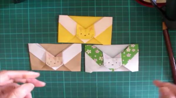 お正月の集まりに♪ネコちゃん付きのかわいいポチ袋の作り方♡